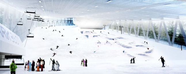 Фото - Строительство в Украине крытого горнолыжного комплекса