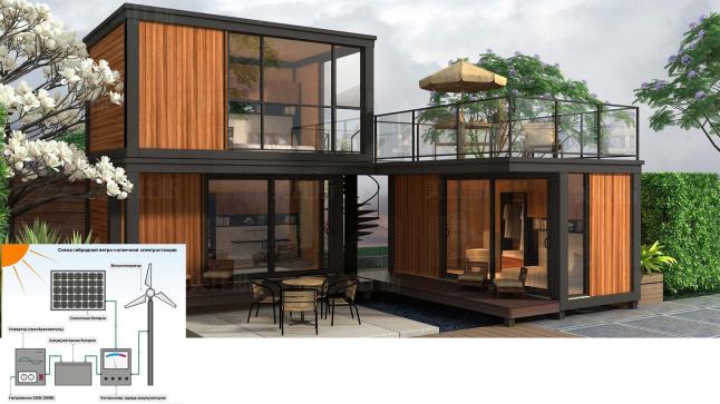 Фото - Автономные дома из контейнеров с гибридными электростанциями