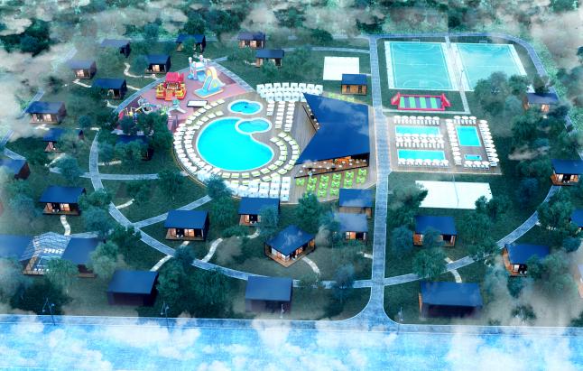 Фото - база отдыха с летним бассейном