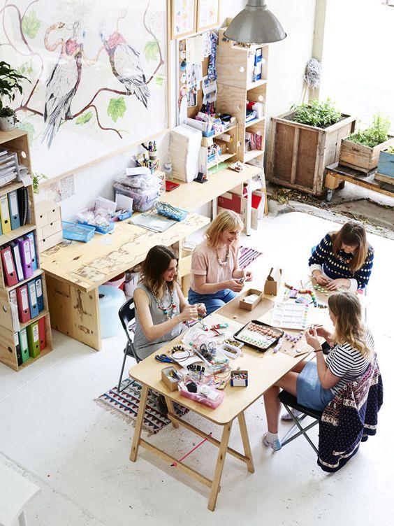 Фото - Handmade coworking area / Коворкинг современного рукоделия