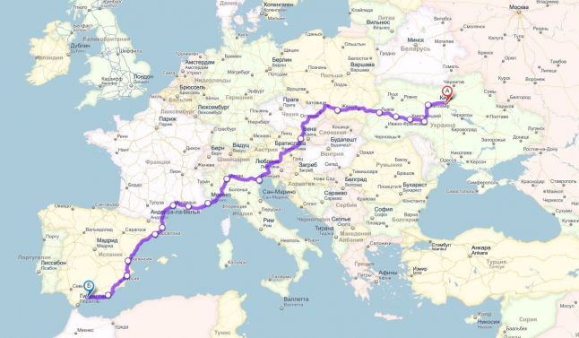 Фото - Комплексное решение по созданию перевозок Украина-Испания