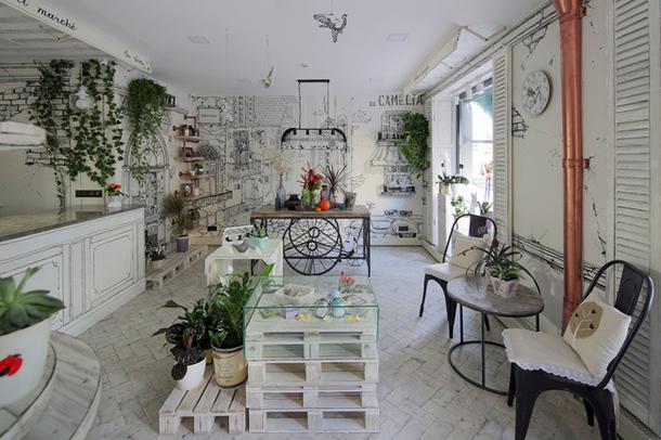 Фото - Атмосферный цветочный магазин