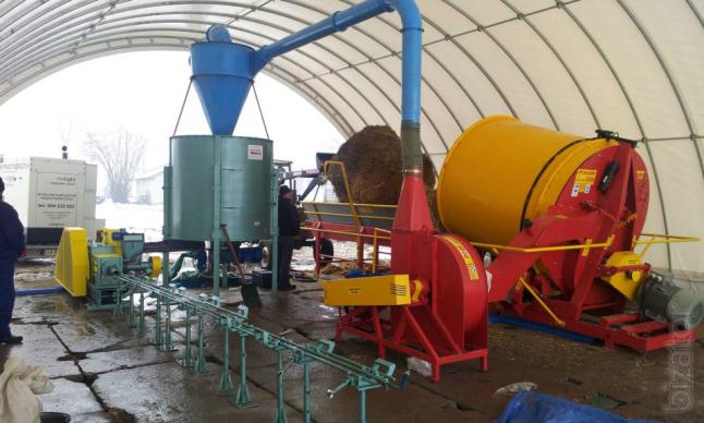 Фото - производство топливных брикетов из соломы