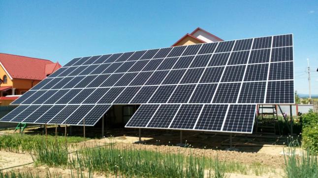 Переработка солнечной энергии в электрическую.