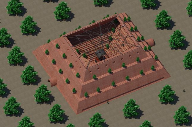 Фото - Арена для громадських зібрань у вигляді піраміди