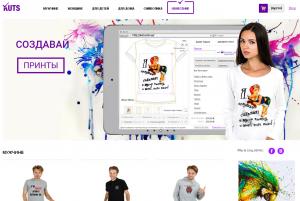 Фото - Сайт с онлайн конструктором футболок и др товаров.
