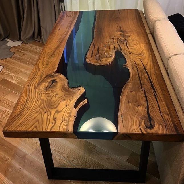 Фото - Виготовлення столів з епоксидної смоли
