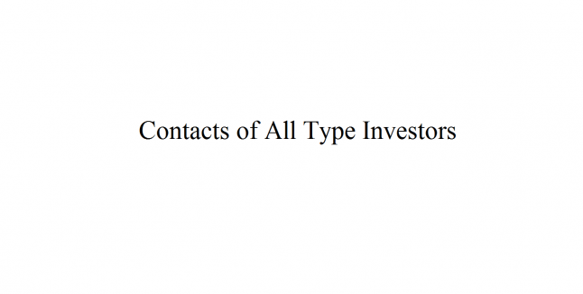 Фото - Сайт для получения контактов инвесторов