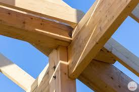 Фото - виробництво деревяних будинків типу фахверк