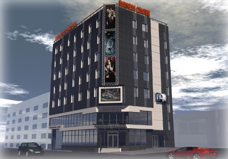 Фото - постройка  торгово-гостиничного комплекса