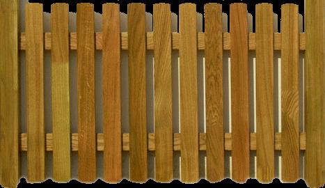 Фото - Деревянный забор для дачи сада