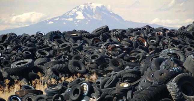 Переработка изношенных автомобильных шин в резиновую крошку