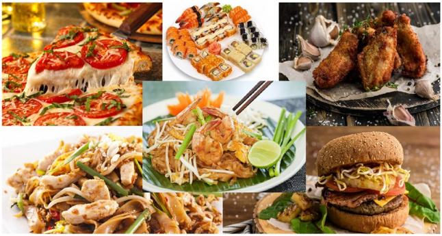 Фото - Американская, Азиатская, Итальянская, Японская кухни