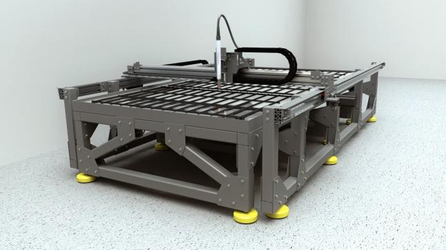 Фото - Высокопроизводительный станок плазменной/лазерной резки металла