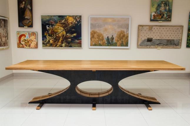 Фото - Арт-столы из дерева и стали