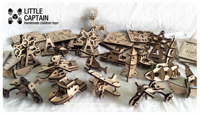 Фото - Детские игрушки - мини конструкторы без клея. Эко.
