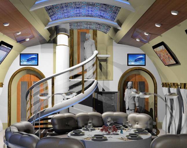 Фото - Ресторан в самолёте